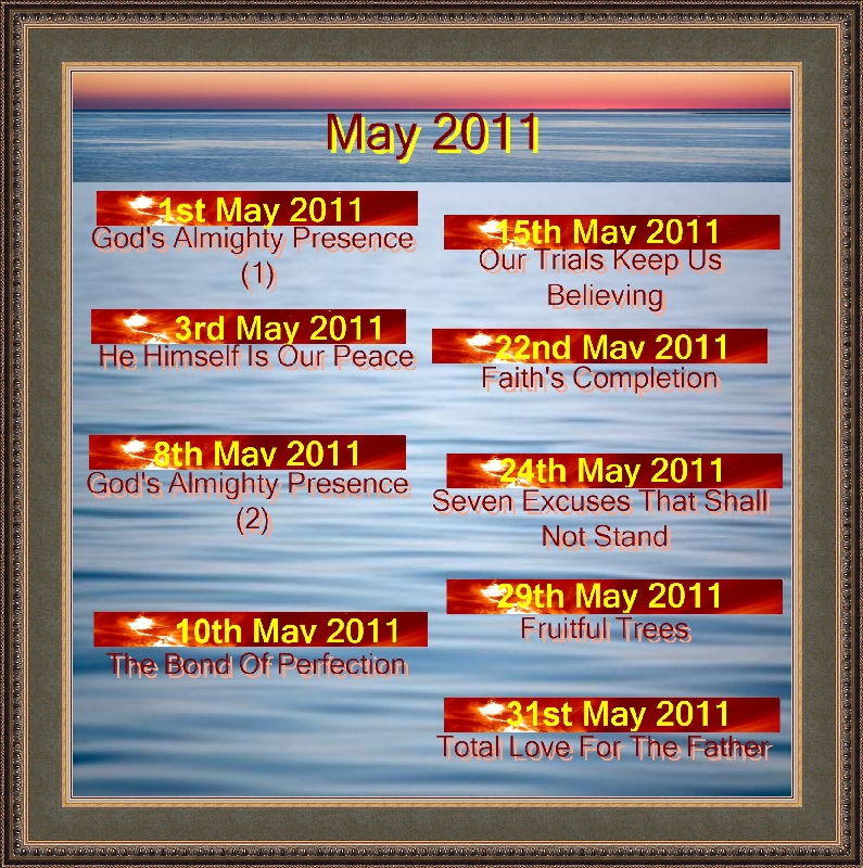 MAY 2011 Titles
