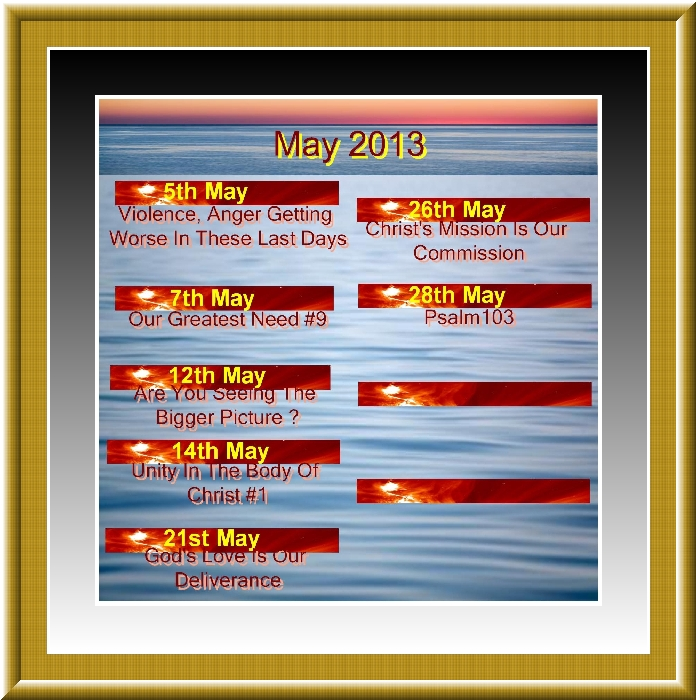 MAY &JUNE 2013 Titles